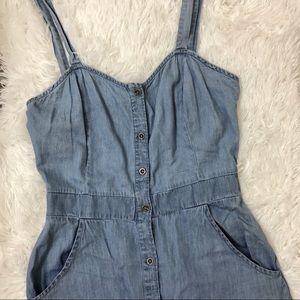 Chambray Button up dress